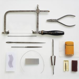 tools for making jewellery isolated on white.